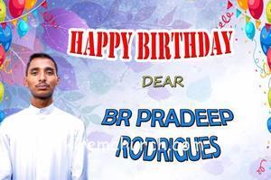 Br. Pradeep Rodrigues's birthday celebrated