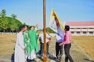 Hoisting of Parish Flag for the preparation of Feast