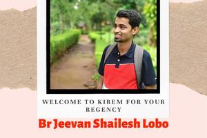 Welcome Br Jeevan Shailesh Lobo for your Regency at Our Lady of Remedies Church, Kirem